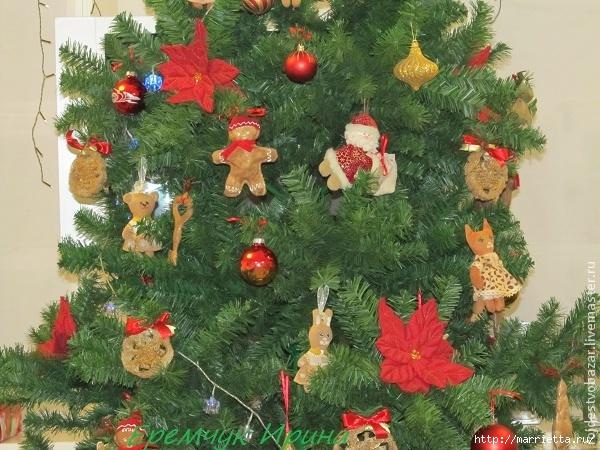 Рождественская пуансеттия из ткани (10) (600x450, 259Kb)