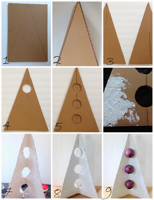 3D Cardboard Christmas Tree (541x700, 329Kb)