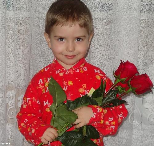 Ромашка с розами (500x474, 99Kb)