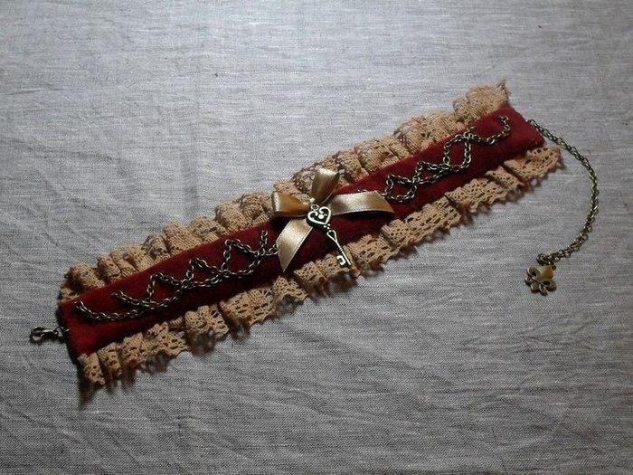 Изготовление винтажной бархотки с кружевом, цепочками, ключиком и бантом/1783336_141223045841 (700x525, 116Kb)