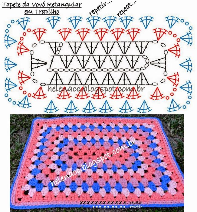 Как крючком связать простой коврик