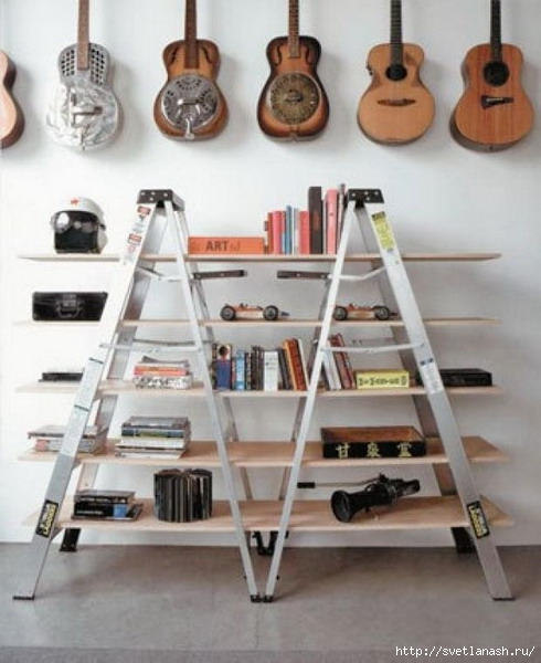 Bookcase-Old-Recycled-Ladder-Design-Ideas (490x600, 151Kb)