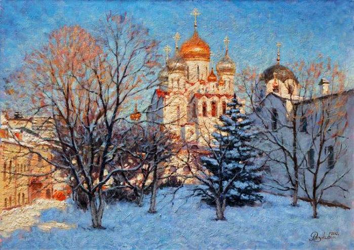 Зимняя москва в живописи игоря