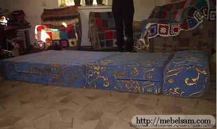 Сделать из дивана кровать своими руками