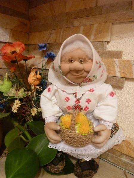 Кукла из капрона как сделать бабушку