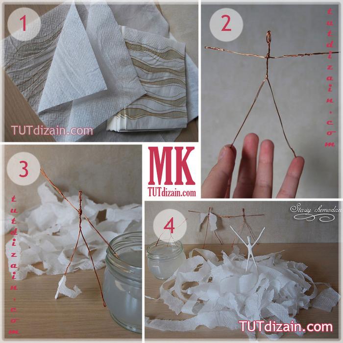 Как сделать из салфетки игрушку