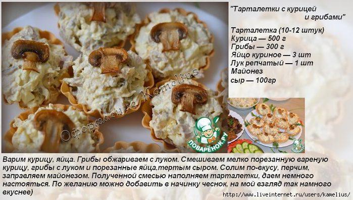 Блюда из тарталеток рецепты и