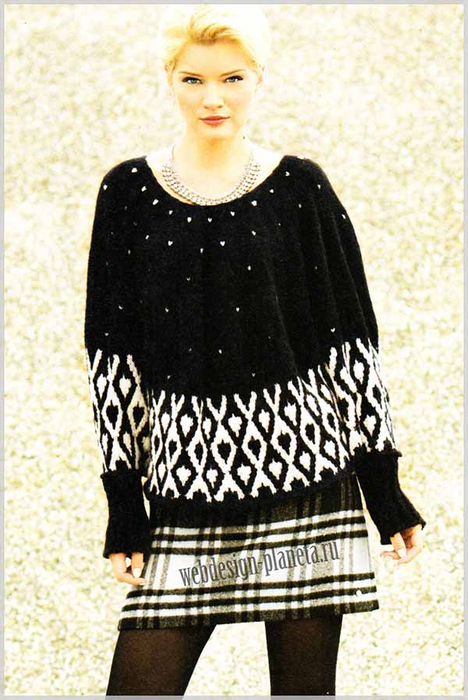 pulover-poncho-spitsami-s-zhakkardovoj-polosoj-foto (468x700, 360Kb)