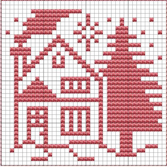 ChristmasTudorDishcloth-2 (698x700, 119Kb)