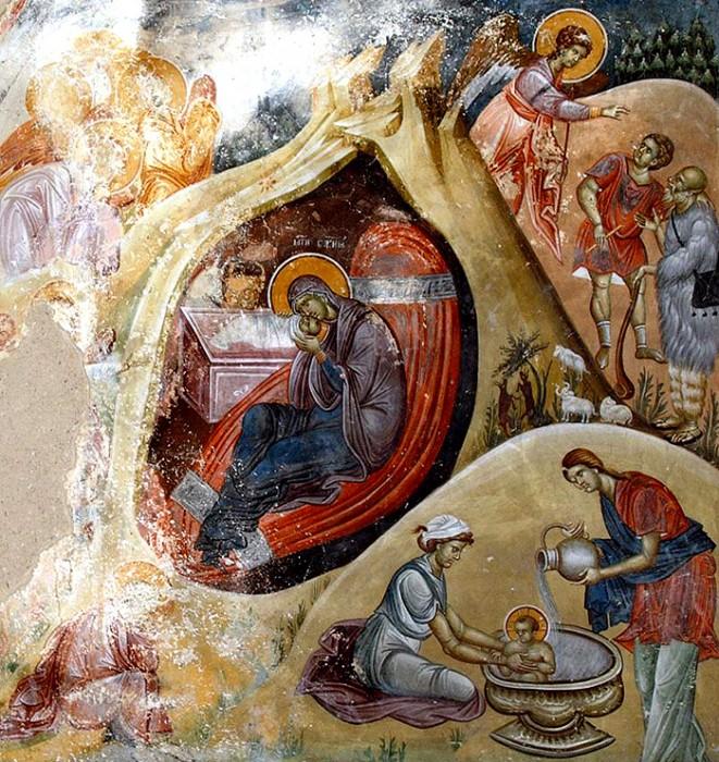 Фреска. Монастырь Студеница. Сербия (661x700, 619Kb)