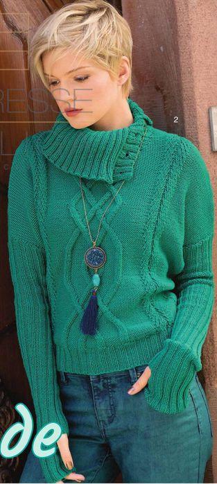 бирюзовый пуловер1 (313x700, 54Kb)