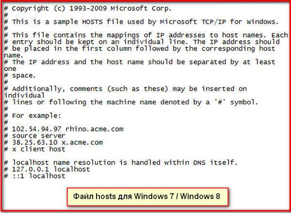 Файл HOSTS скачать файл hosts для Windows  где находится