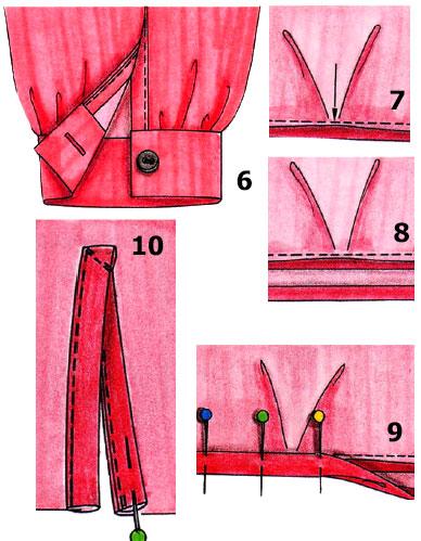 Как сделать манжету на рукаве