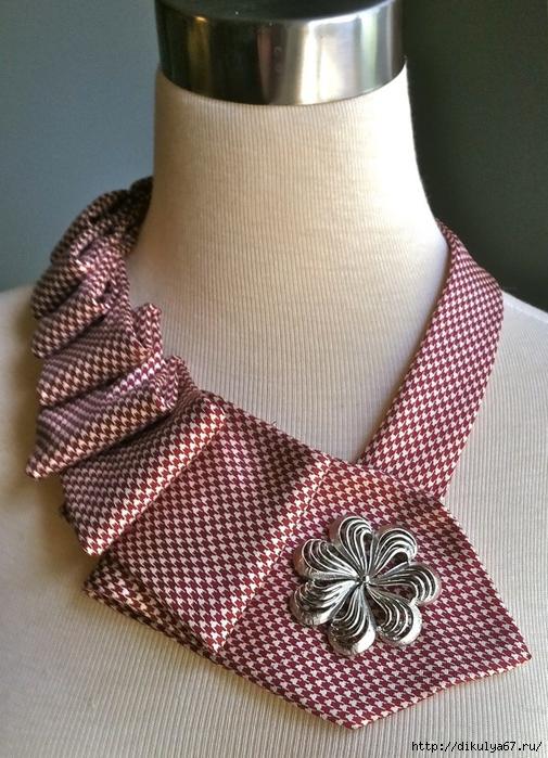 Украшение из мужского галстука мастер класс