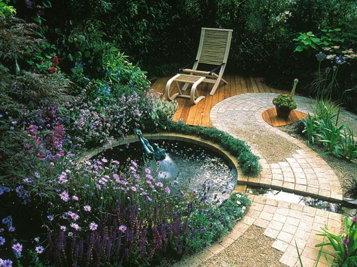 Ландшафтный дизайн садовых двориков