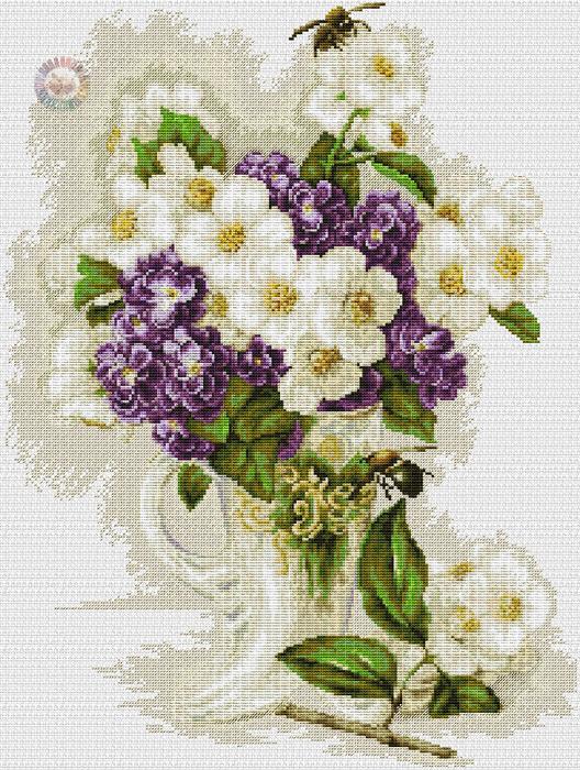Ваза с цветами (528x700, 591Kb)