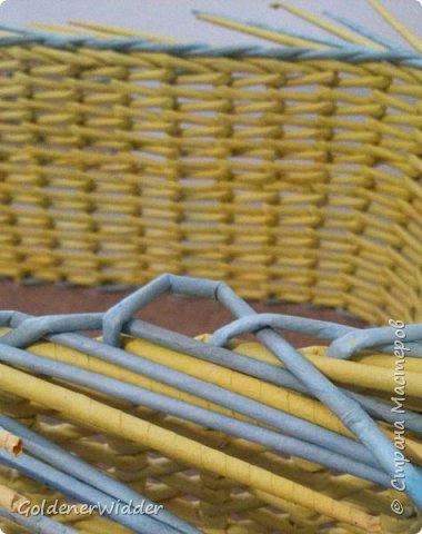 японское плетение из газетных трубочек,