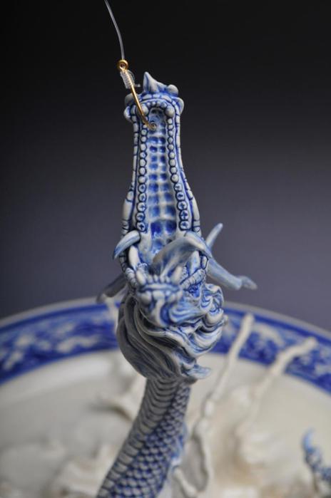 Как сделать сказочного дракона из теста на тарелке (88 подробных фотографий мастер класса)