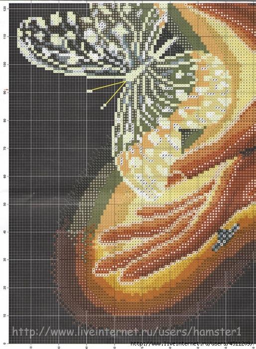Хрустальная бабочка вышивка схемы