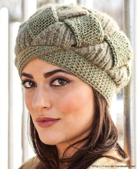 Вязаная шапка от Norah Gaughan спицами (530x653, 233Kb)