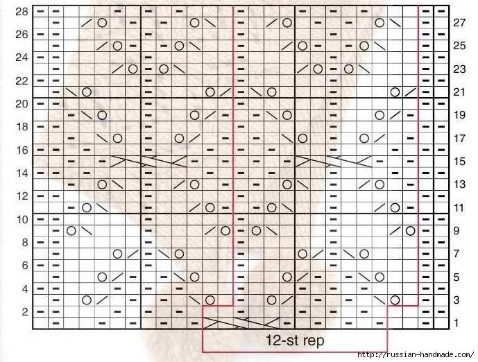 Модная шапочка ШЛЕМ спицами (4) (689x522, 293Kb)