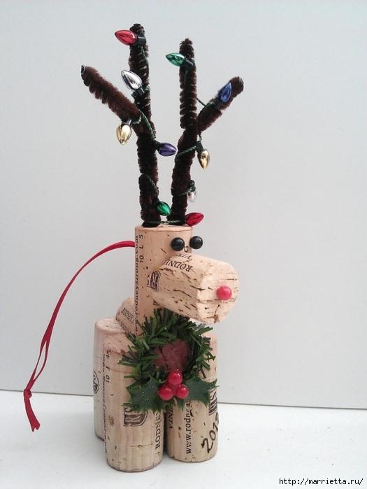 Рождественские ОЛЕНИ из пробок и веток (6) (525x700, 223Kb)