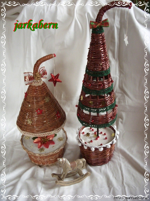 плетение из газет. рождественские идеи (18) (525x700, 307Kb)