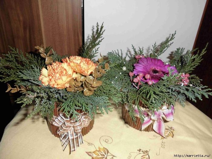 плетение из газет. рождественские идеи (30) (700x525, 300Kb)