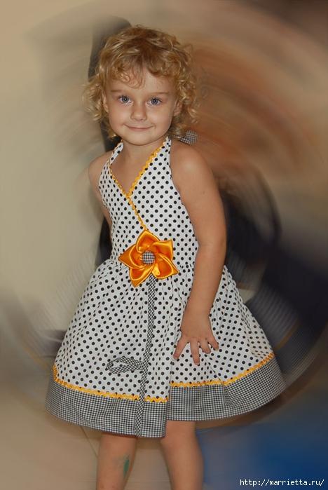 симпатичный сарафанчик для мамы и дочки (1) (468x700, 206Kb)