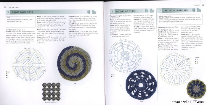 150 Knit & Crochet Motifs_H.Lodinsky_Pagina 22-23 (700x355, 175Kb)