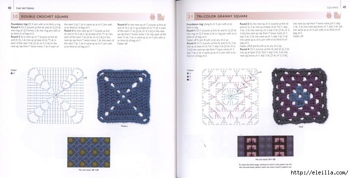 150 Knit & Crochet Motifs_H.Lodinsky_Pagina 40-41 (700x355, 153Kb)