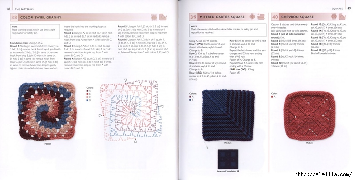 150 Knit & Crochet Motifs_H.Lodinsky_Pagina 48-49 (700x355, 162Kb)