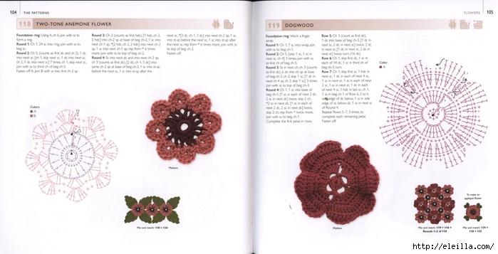 150 Knit & Crochet Motifs_H.Lodinsky_Pagina 104-105 (700x357, 162Kb)