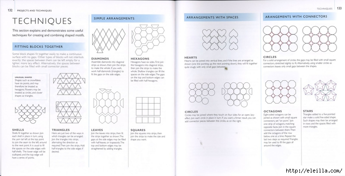 150 Knit & Crochet Motifs_H.Lodinsky_Pagina 132-133 (700x357, 157Kb)