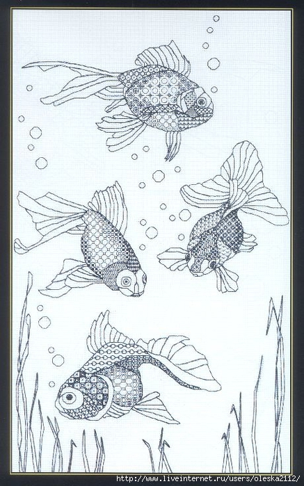 рыбы блэкворк (437x700, 259Kb)