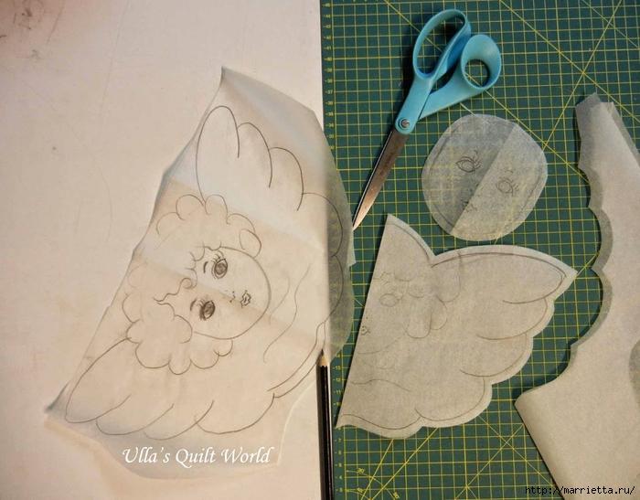 Текстильная подвеска - ангел с цветочками йо-йо (2) (700x547, 273Kb)