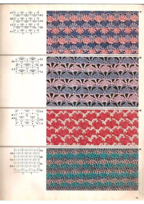 Вязание крючок узоры двухцветные