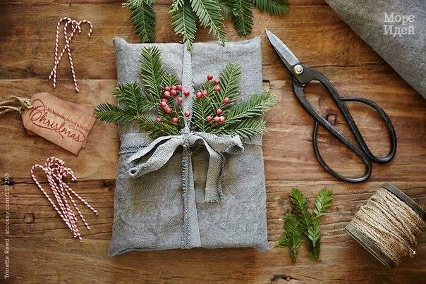 идеи для упаковки новогодних подарков4 (604x403, 207Kb)