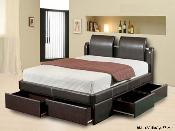 Modern amp Contemporary Twin Bed With Storage Drawers