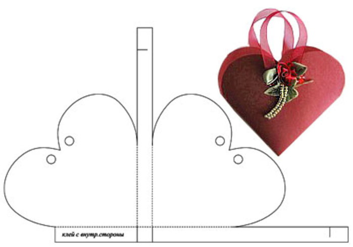 Коробочка для подарков сердце