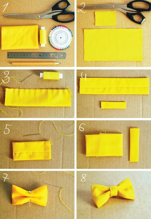Как сшить бантик своими руками из ткани