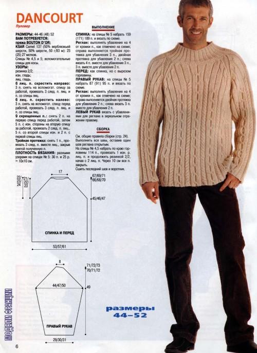 Мужские свитера мужские схемы и описание 2017-2018