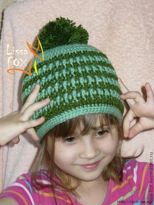 вязаная детская шапочка рисинка, как связать шапочку для девочки крючком, симпатичная вязаная шапочка для девочки, как связать шапку с узором для девочки, схема вязания шапочки для девочки, мастер класс по вязанию шапочки для девочки,