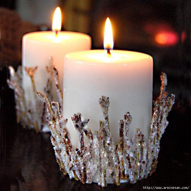 Украсит свечу своими руками к новому году