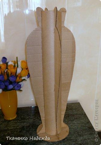 Напольная ваза своими руками из картона