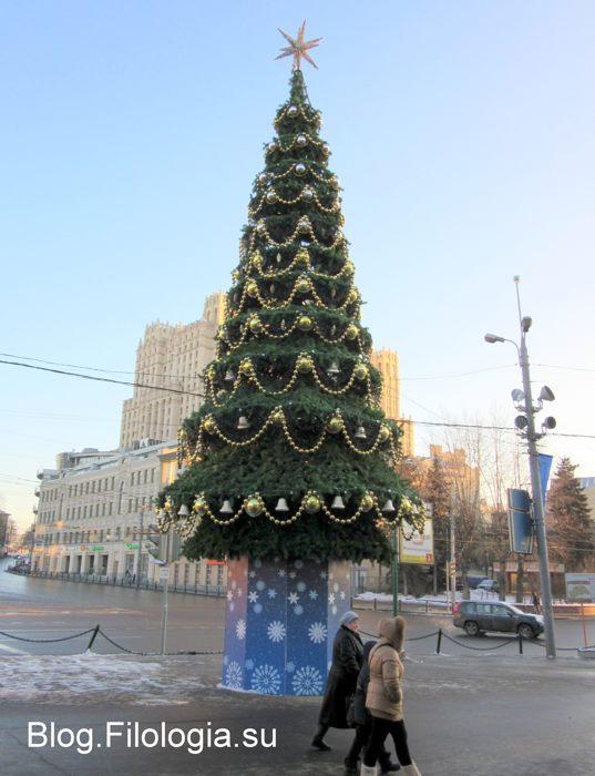 Елка перед зоопарком в Москве (537x700, 56Kb)