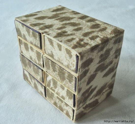 Комодик из спичечных коробков (12) (550x505, 119Kb)
