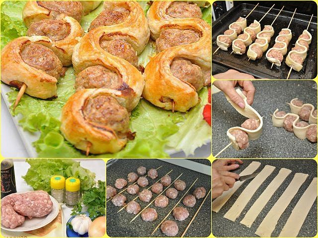 блюда на шпажках в духовке рецепты с фото