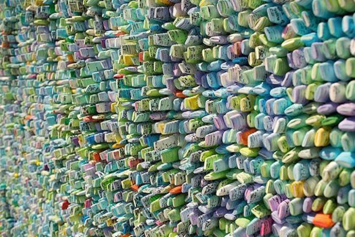 Корейские картины из крученой цветой тутовой бумаги