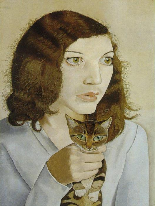 Freud Lucian. Girl with a kitten. (527x700, 61Kb)